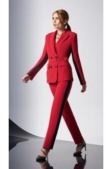 Брючные костюмы /комплекты DiLiaFashion 0158-1 красный фото 1