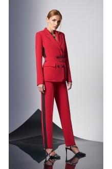 Брючные костюмы /комплекты DiLiaFashion 0158-1 красный фото 2