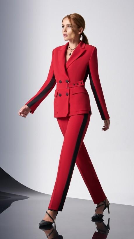 Брючные костюмы /комплекты DiLiaFashion 0158-1 красный