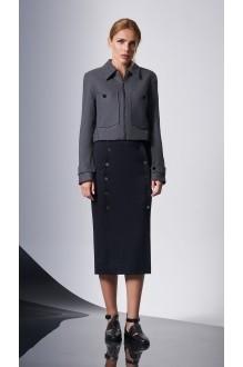 Юбочные костюмы /комплекты DiLiaFashion 0150-1 серый/синий фото 2