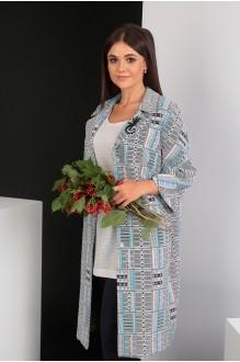Мода-Юрс 2391 серый+бирюзовый