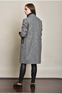 Пальто Либерта 475 серо-графитовый меланж фото 4