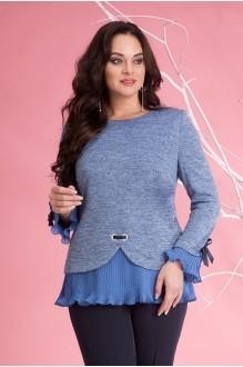 Блузки и туники Лилиана 674 голубой фото 1
