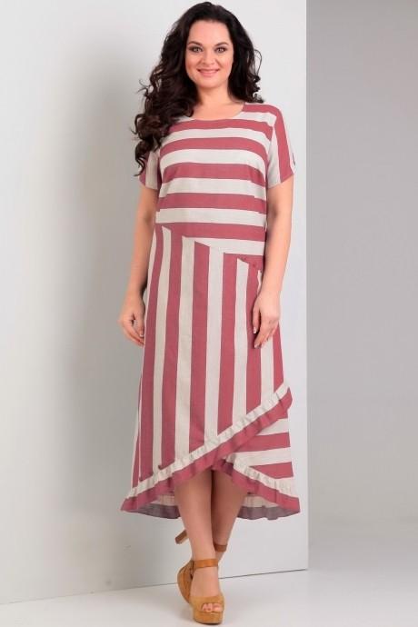 Длинные платья, платья в пол *Распродажа Jurimex 1758 красная полоска