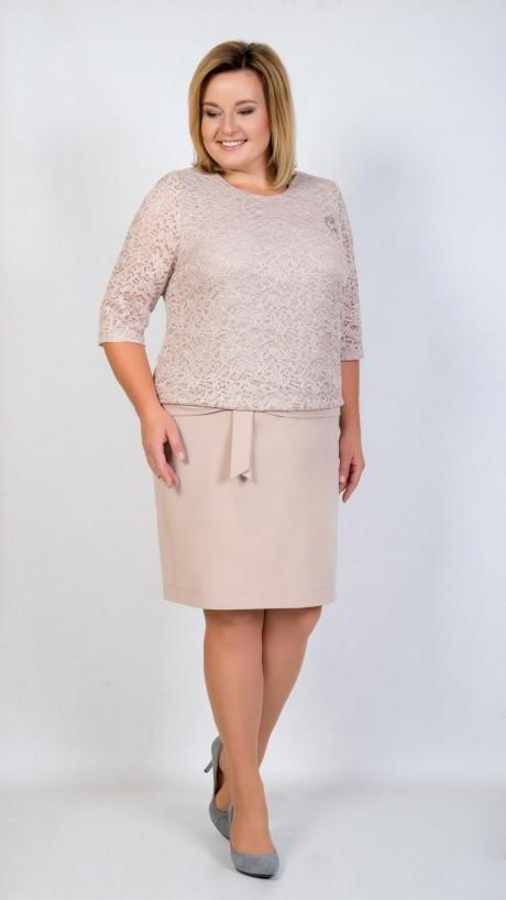 Вечерние платья TricoTex Style 5316 пудра