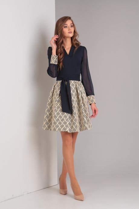 Вечерние платья Милора Стиль 592 золотая юбка