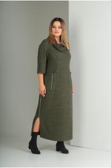 Длинные платья VIOLA STYLE 0797 зеленый фото 2