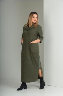 Длинные платья VIOLA STYLE 0797 зеленый фото 3