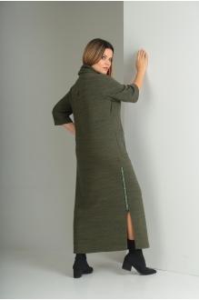 Длинные платья VIOLA STYLE 0797 зеленый фото 4