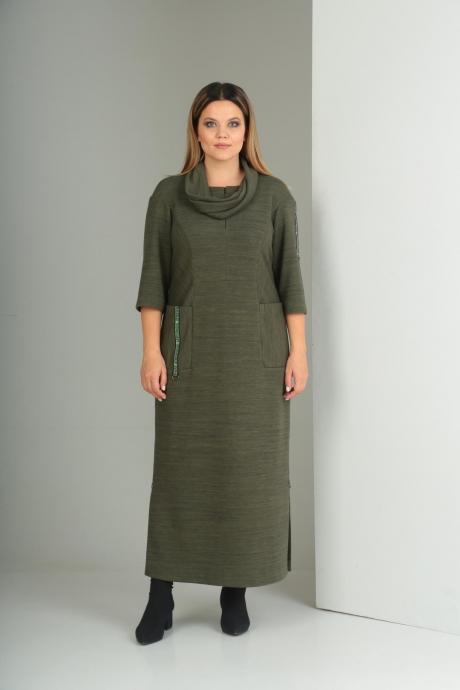 Длинные платья VIOLA STYLE 0797 зеленый