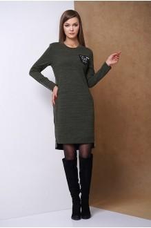 Повседневные платья Fantazia Mod 3301 хаки фото 1