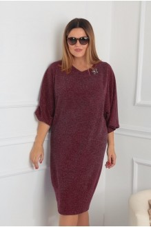 Повседневные платья VIOLA STYLE 0791 бордовый фото 1