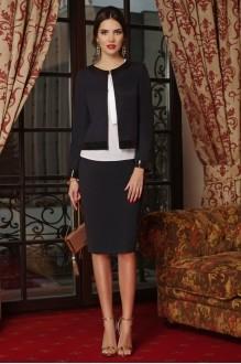 Юбочные костюмы /комплекты Lissana 3240/1 темно-синий+темно-серый фото 1