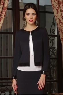 Юбочные костюмы /комплекты Lissana 3240/1 темно-синий+темно-серый фото 4