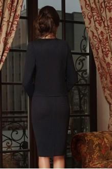 Юбочные костюмы /комплекты Lissana 3240/1 темно-синий+темно-серый фото 5