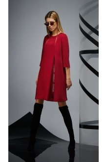 Повседневные платья DiLiaFashion 0170 -2 бордо фото 1