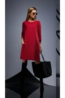 Повседневные платья DiLiaFashion 0170 -2 бордо фото 3
