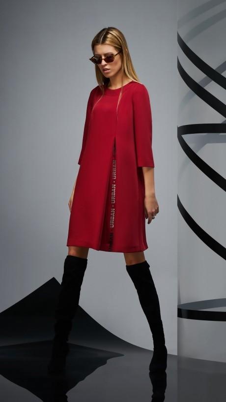Повседневные платья DiLiaFashion 0170 -2 бордо