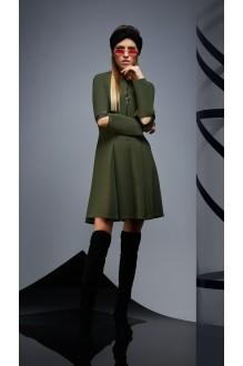 Повседневные платья DiLiaFashion 0171 -1 зелёный фото 2
