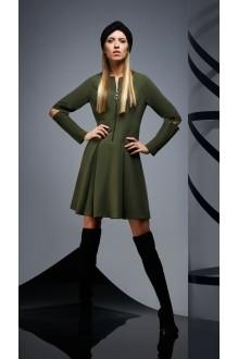 Повседневные платья DiLiaFashion 0171 -1 зелёный фото 3