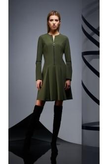 Повседневные платья DiLiaFashion 0171 -1 зелёный фото 4