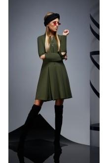 Повседневные платья DiLiaFashion 0171 -1 зелёный фото 6