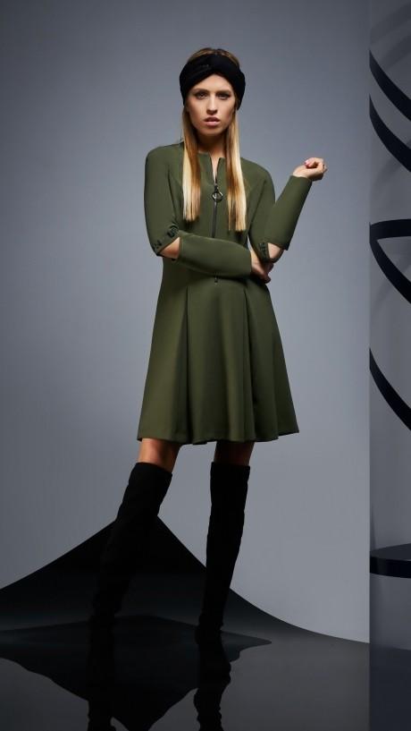 Повседневные платья DiLiaFashion 0171 -1 зелёный