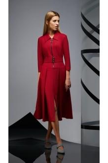 Повседневные платья DiLiaFashion 0174 -2 бордо фото 2
