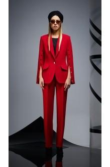 Брючные костюмы /комплекты DiLiaFashion 0164 -1 красный/чёрный фото 2
