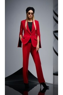 Брючные костюмы /комплекты DiLiaFashion 0164 -1 красный/чёрный фото 3