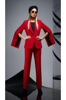Брючные костюмы /комплекты DiLiaFashion 0164 -1 красный/чёрный фото 4