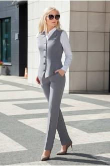 Azzara 520 серый/белая блуза
