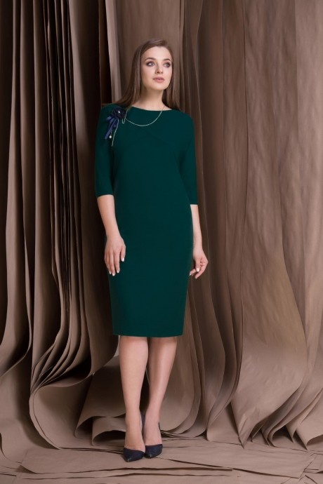 Повседневные платья Lokka 309 тёмный изумруд