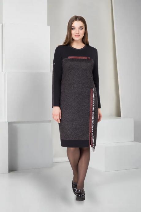 Повседневные платья ТAиЕР 745 серый меланж