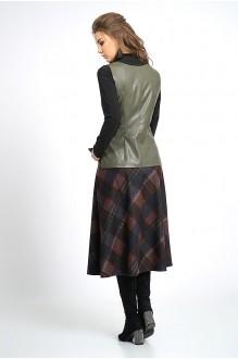 Юбочные костюмы /комплекты ALANI COLLECTION 803 хаки+крупная клетка №2 фото 3