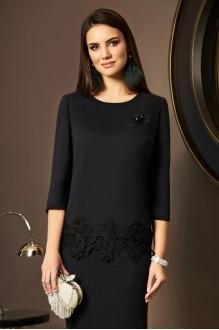 Юбочные костюмы /комплекты Lissana 3489 черный с серым оттенком фото 3
