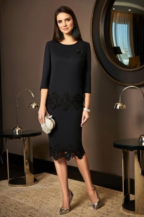 Юбочные костюмы /комплекты Lissana 3489 черный с серым оттенком