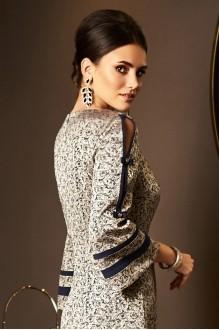 Вечерние платья Lissana 3536 золото+синий фото 4