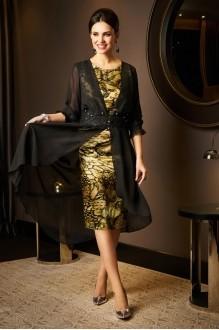 Вечерние платья Lissana 2975 черный+зеленый чай фото 1