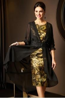 Вечерние платья Lissana 2975 черный+зеленый чай фото 3