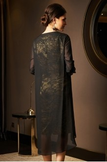 Вечерние платья Lissana 2975 черный+зеленый чай фото 4