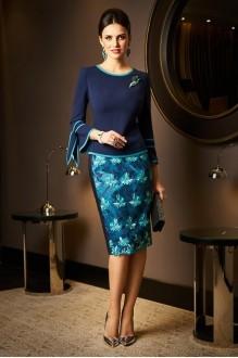 Lissana 3521 темно-синий+бирюза