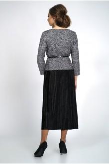 Юбочные костюмы /комплекты ALANI COLLECTION 829 блуза серебро+юбка черная фото 2
