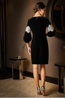 Вечерние платья Lissana 3531 черный+белое кружево фото 2