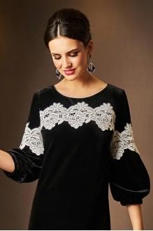Вечерние платья Lissana 3531 черный+белое кружево фото 4