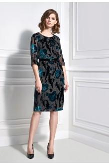 Вечерние платья Bazalini 3329 черно-бирюзовый фото 1