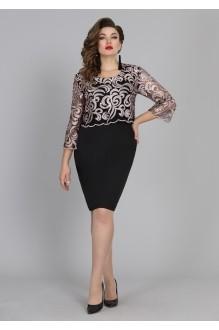 Галеан-стиль 677 чёрный с розовым