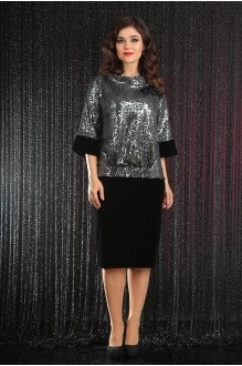 Мода-Юрс 2441 чёрный + серебро