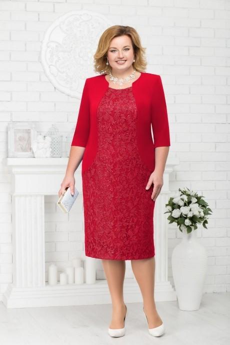 Вечерние платья Нинель Шик 7213 красный