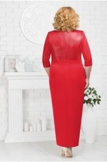 Длинные платья, платья в пол Нинель Шик 7216 красный фото 2